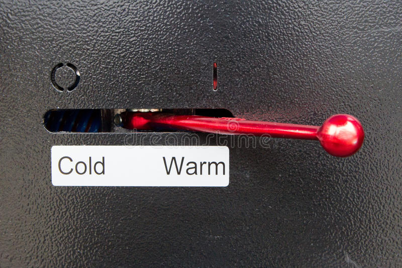 Lever for cold or warm stock images