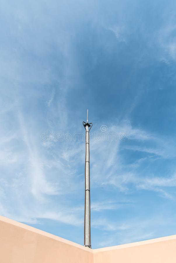 Lighting rod on the roof. royalty free stock photos
