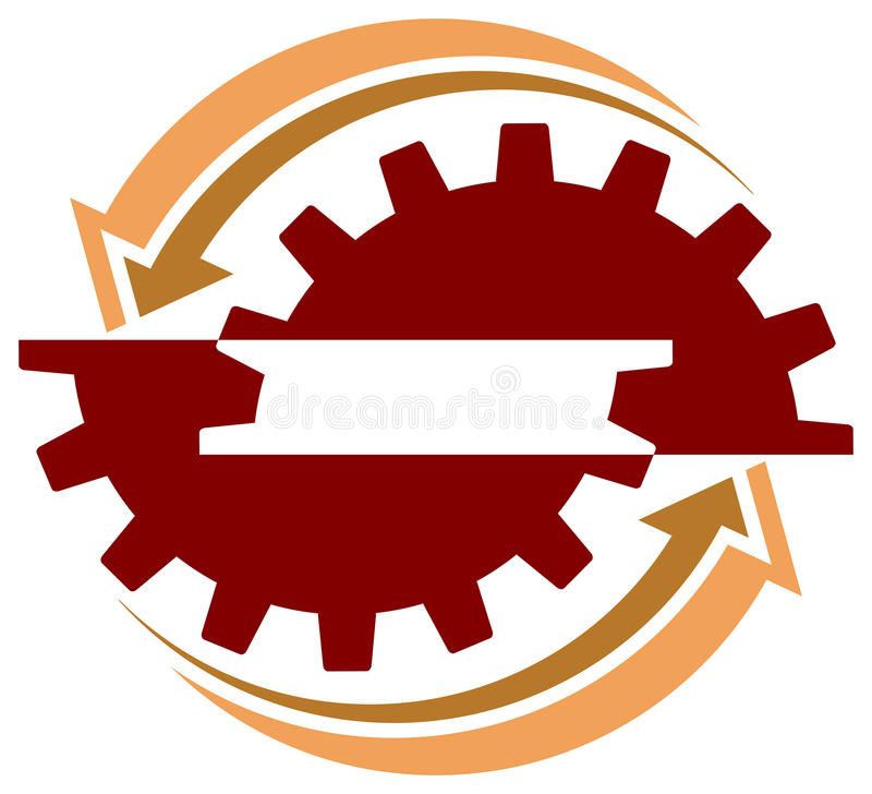 Industrial logo vector illustration