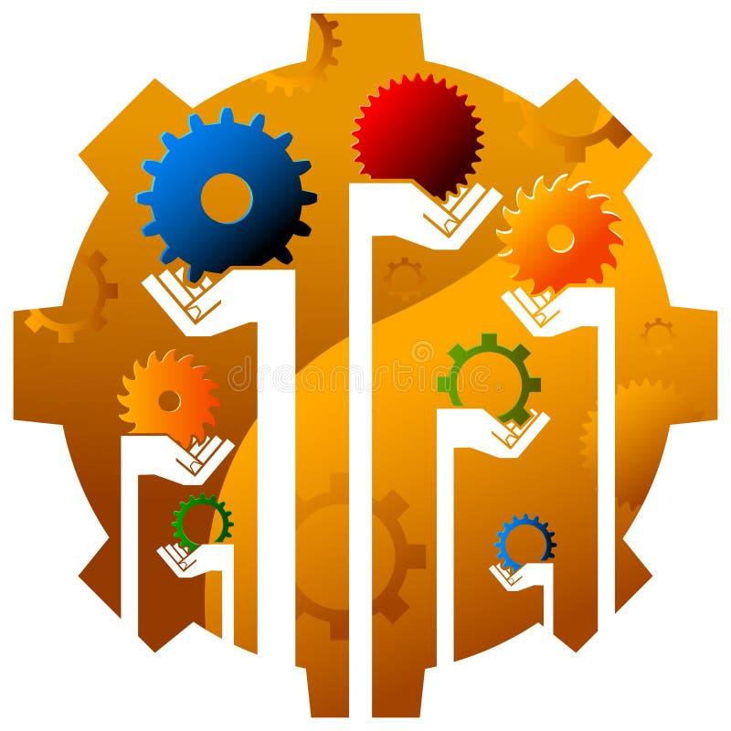 Industrial logo stock illustration