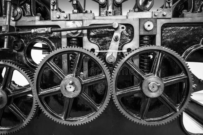 Industrial machine cogs. royalty free stock photography