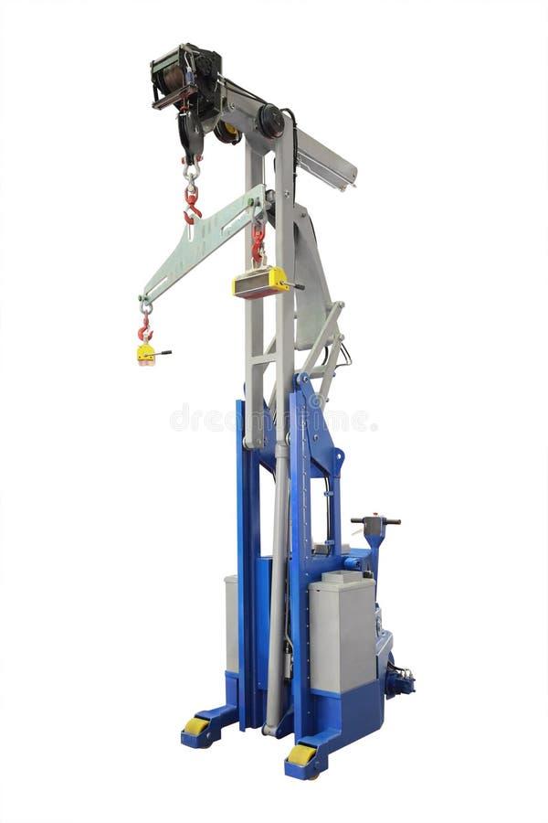 Industrial magnet crane stock photos
