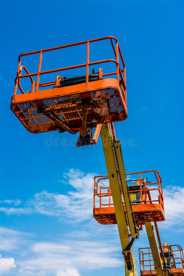 Industrial Man Lift royalty free stock image