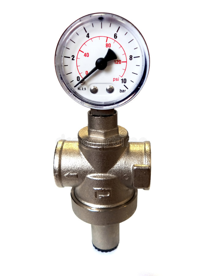 Industrial manometer. Element of design royalty free stock photography