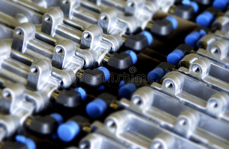 Download Industrial Metal Parts Pattern Stock Photo - Image of closeup, background: 21847796