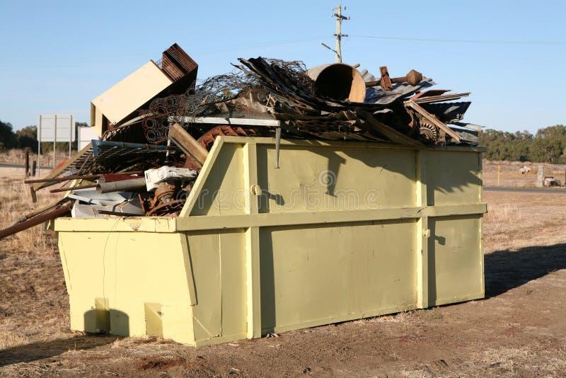 Download Industrial Metal Waste Skip Stock Image - Image: 4218603