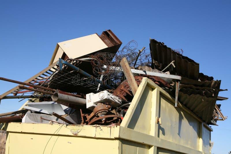 Industrial Metal Waste Skip Royalty Free Stock Photo