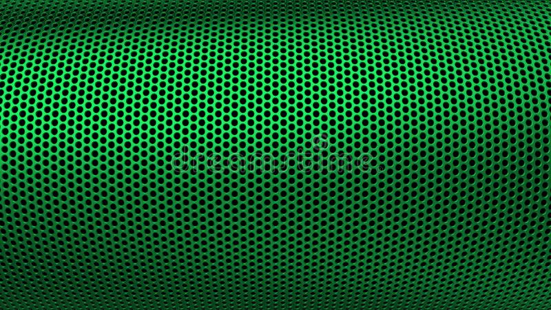 Industrial Metall Steel Iron Holes Pattern Sieve Green royalty free stock photos