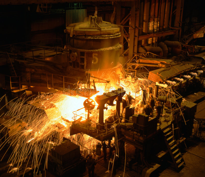 Industrial metallurgy royalty free stock images