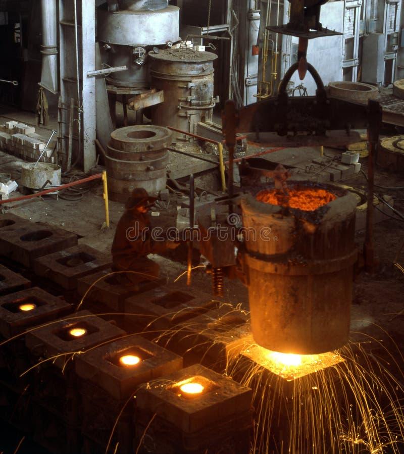Industrial metallurgy stock image