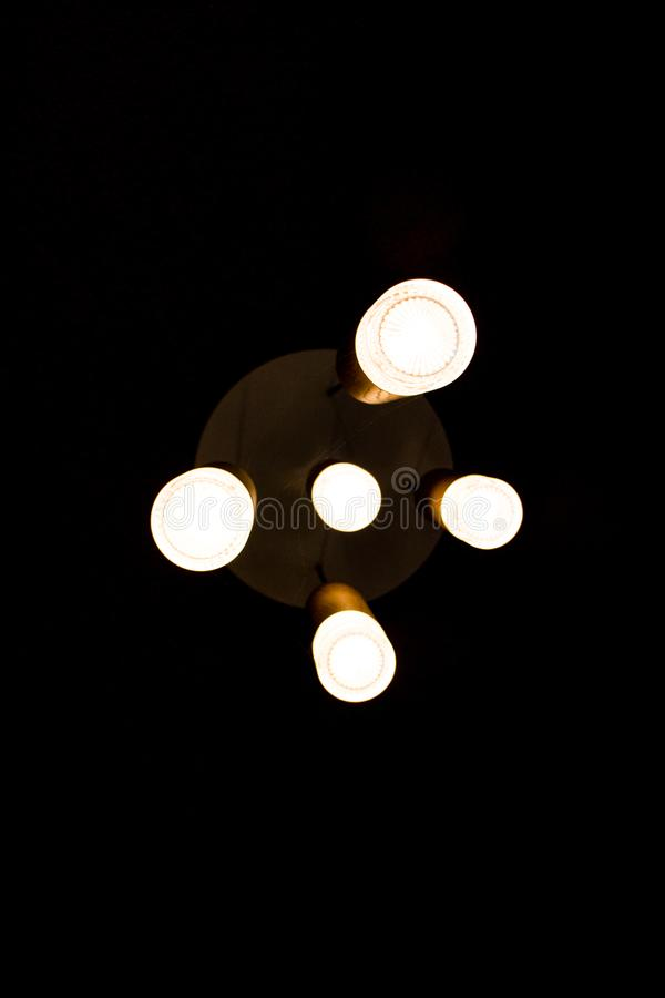 Industrial aesthetic lights in color stock image
