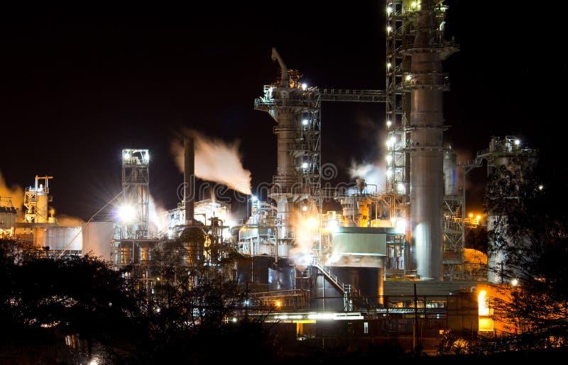Industrial night stock photo