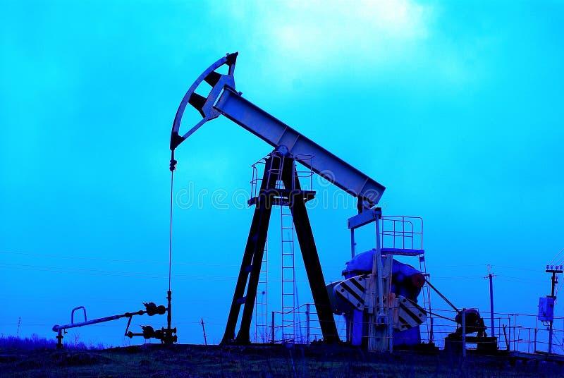 Industrial oil jack pump stock image