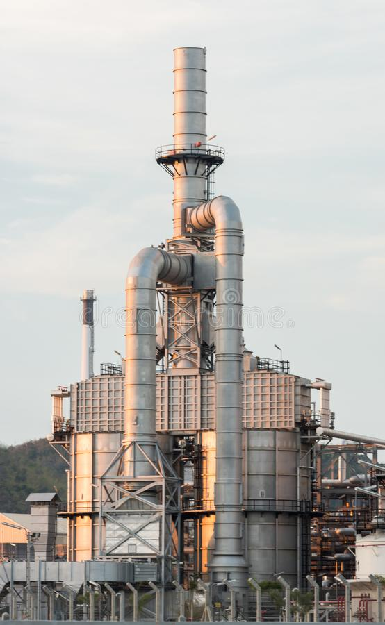 Industrial at oil refinery plant. Factory petrochemical stock photography