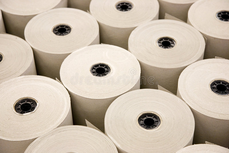 Industrial Paper Rolls royalty free stock image
