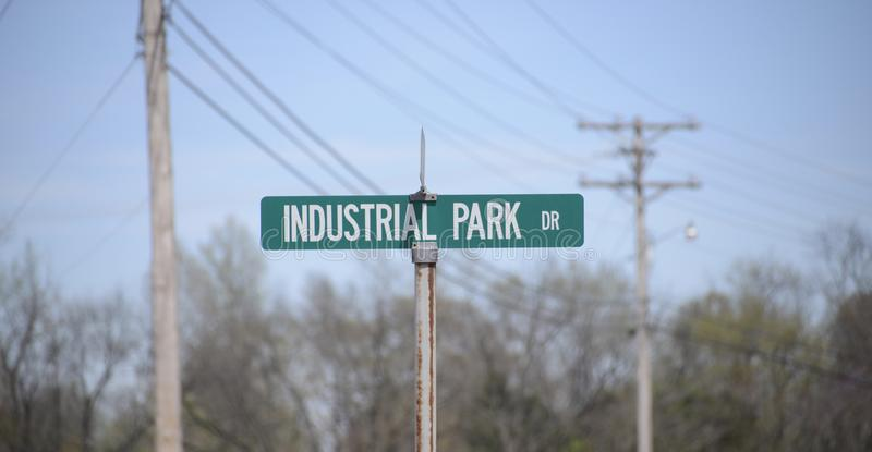 Industrial Park Drive. Is the location of manufacturing, industrial and refinery plants, employing hundreds of individuals for the manufacturing of textiles royalty free stock photography