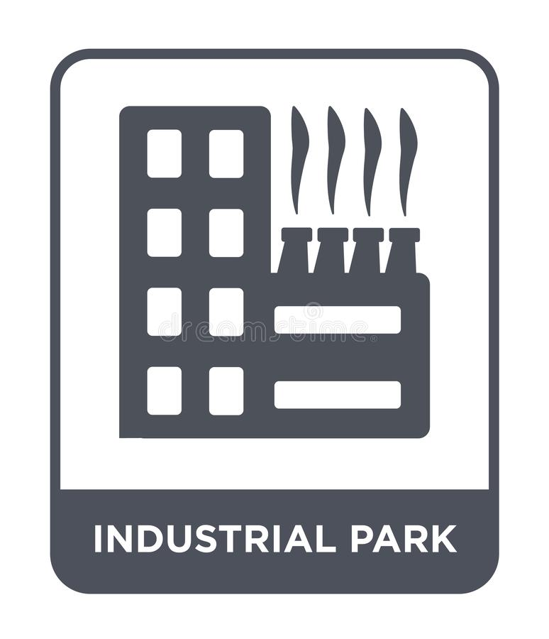 industrial park icon in trendy design style. industrial park icon isolated on white background. industrial park vector icon simple vector illustration