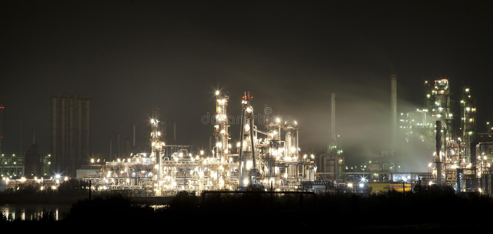 Industrial park night view. Night view of a industrial park royalty free stock photos