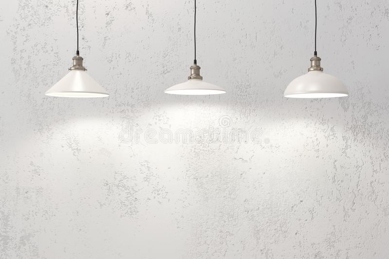 Industrial pendant lamps royalty free stock photography