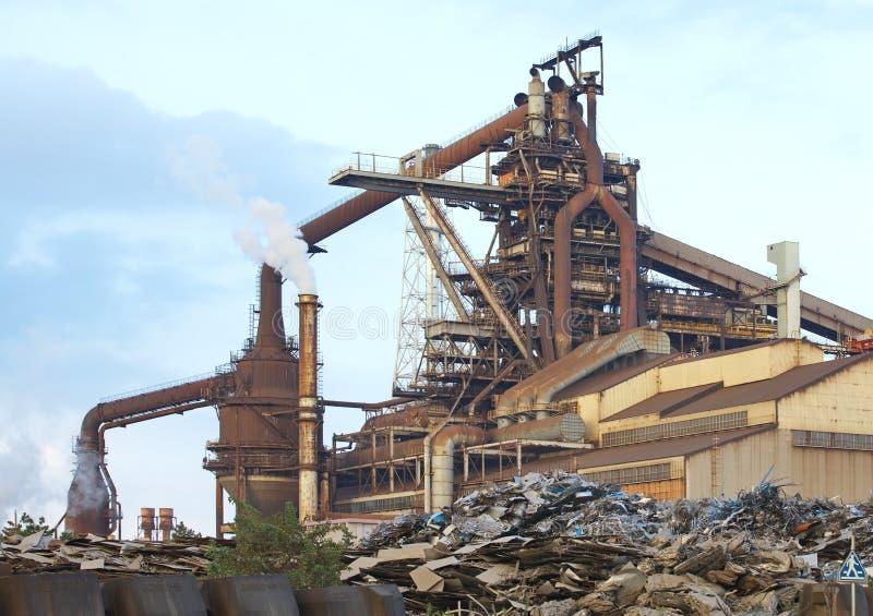 Industrial pesado da poluição foto de stock
