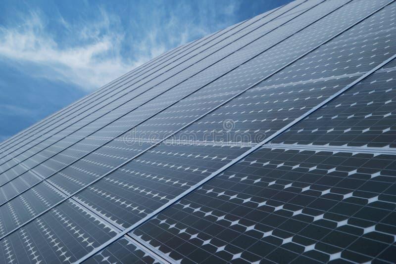 Industrial photovoltaic solar panels stock photos