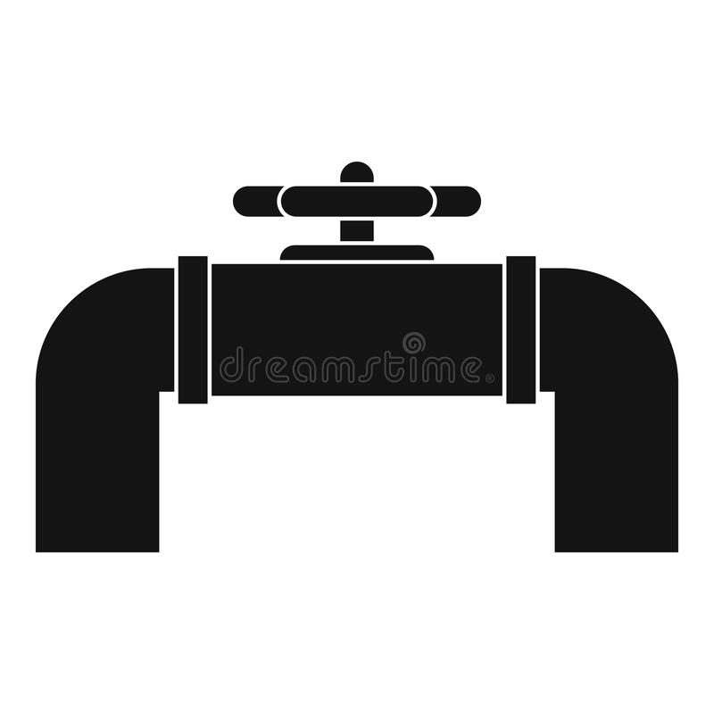 Industrial pipe valve icon, simple style royalty free illustration