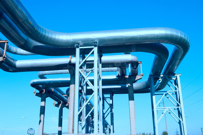 Download Industrial pipelines stock image. Image of converting - 13163205