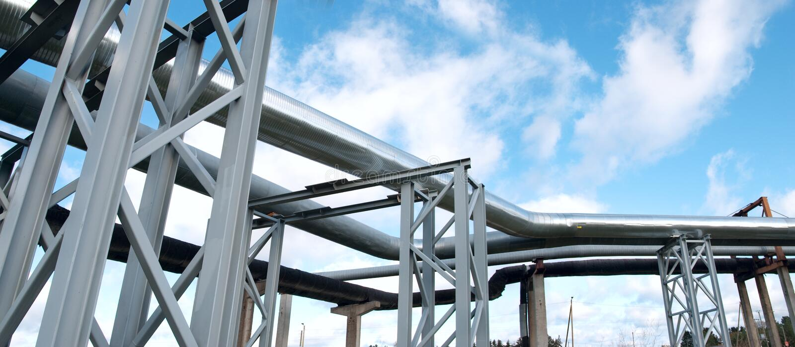 Download Industrial pipelines stock photo. Image of converting - 13431838