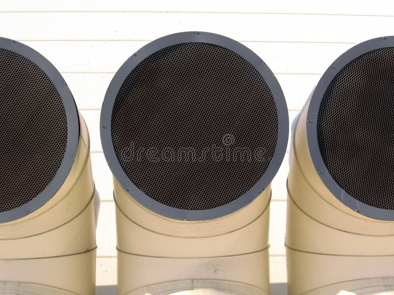 Industrial pipes royalty free stock photography