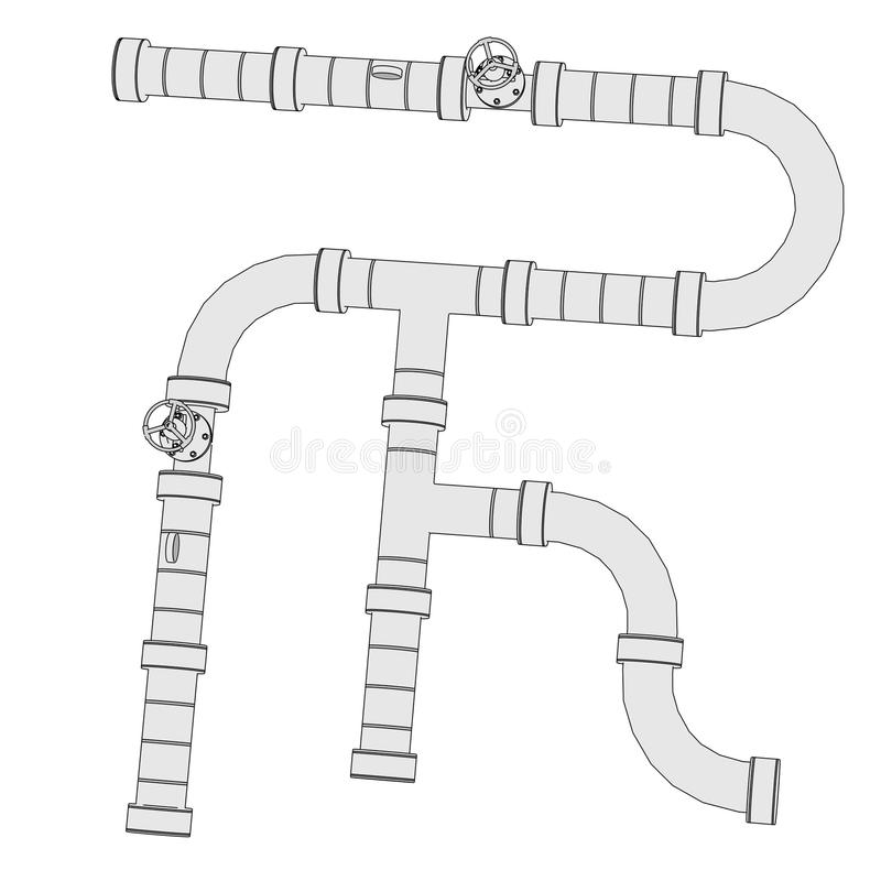 Industrial pipes royalty free illustration