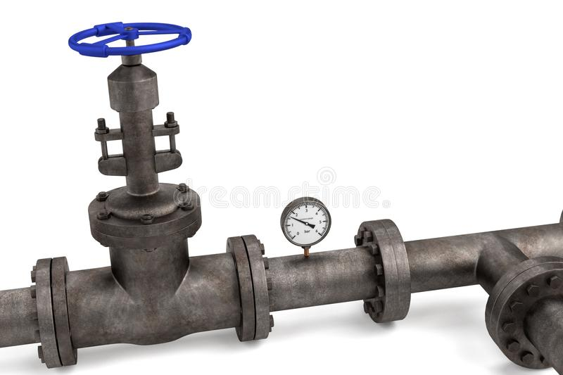 Industrial pipes stock illustration