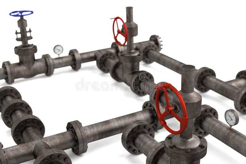 Industrial pipes vector illustration