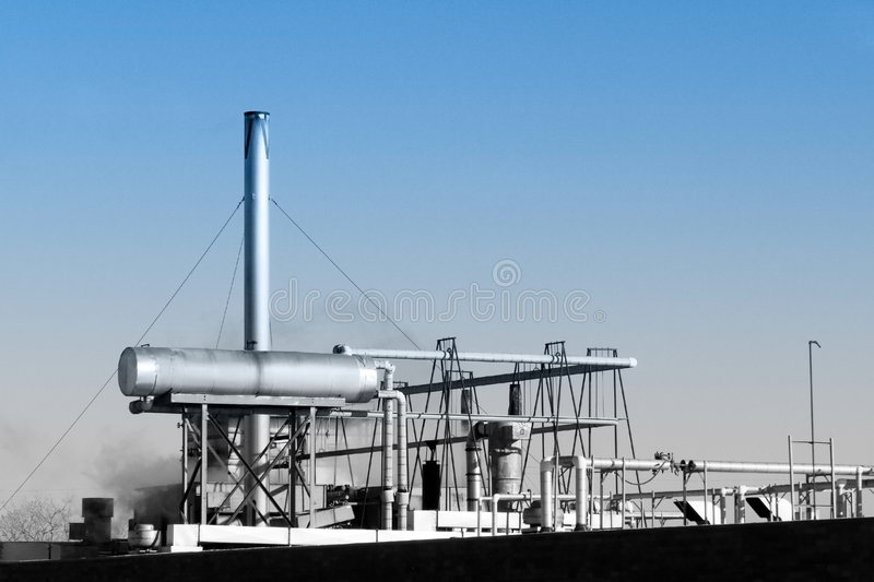 Industrial Piping stock photo