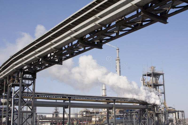 Industrial Piping System royalty free stock photos