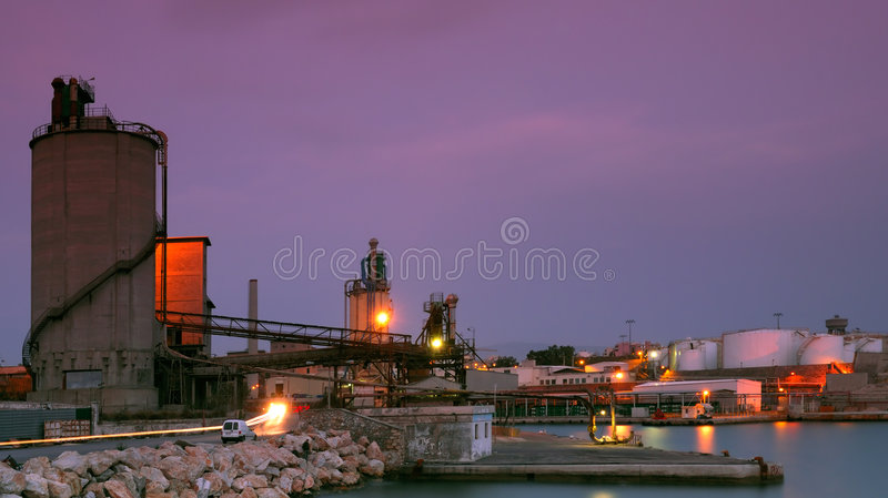 industrial piraeus site στοκ φωτογραφία με δικαίωμα ελεύθερης χρήσης