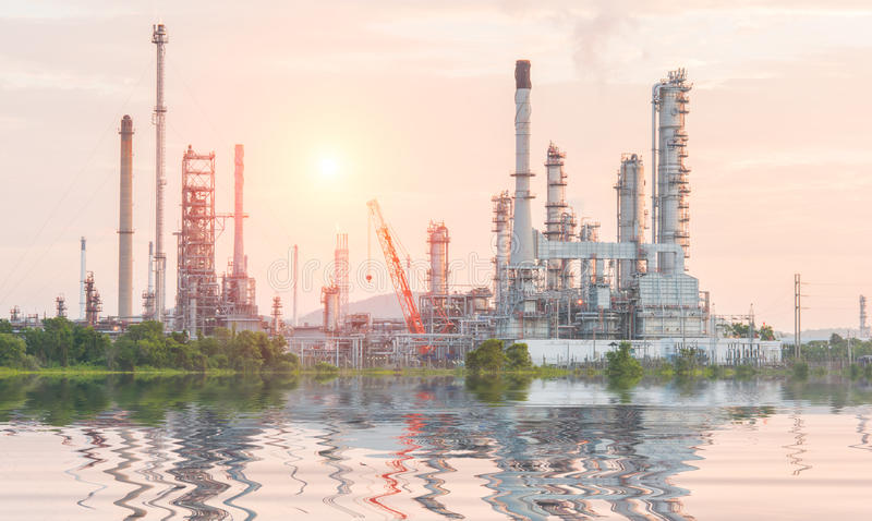 Download Industrial Plant Power Station Stock Image - Image of dusk, cooling: 57437767