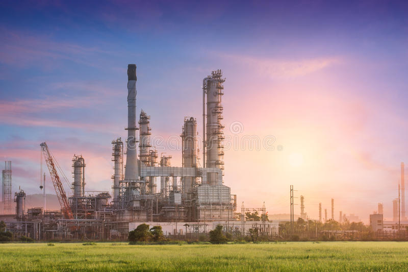 Download Industrial Plant Power Station Stock Image - Image of evening, chemical: 57529177
