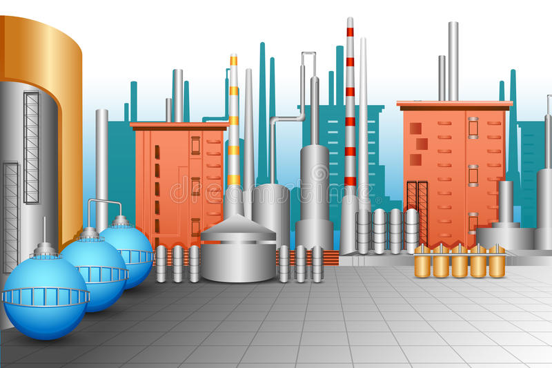 Download Industrial Plant stock vector. Illustration of nuclear - 31935072