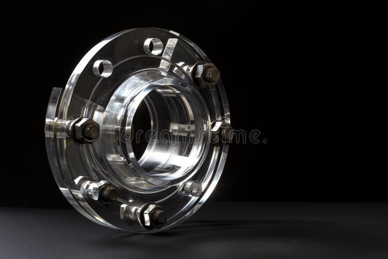 Industrial plastics acrylic flange bolts. stock photo