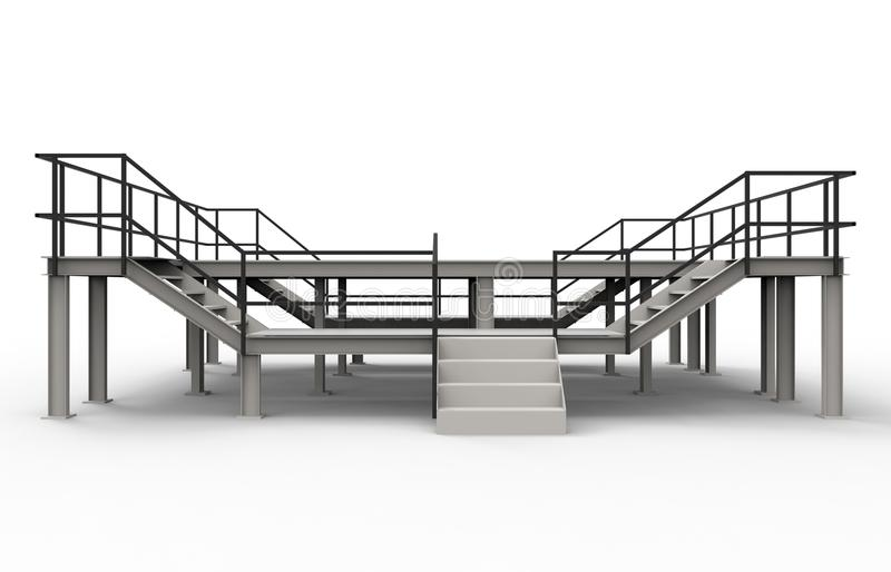 Industrial platform - front view royalty free illustration