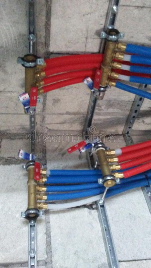 The pex pipe stock image  Image of pipe, installation - 35865309
