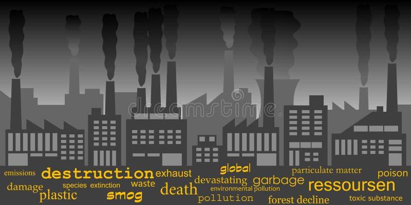 Industrial pollution stock illustration