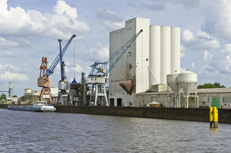 Download The industrial port stock photo. Image of europe, river - 26297020