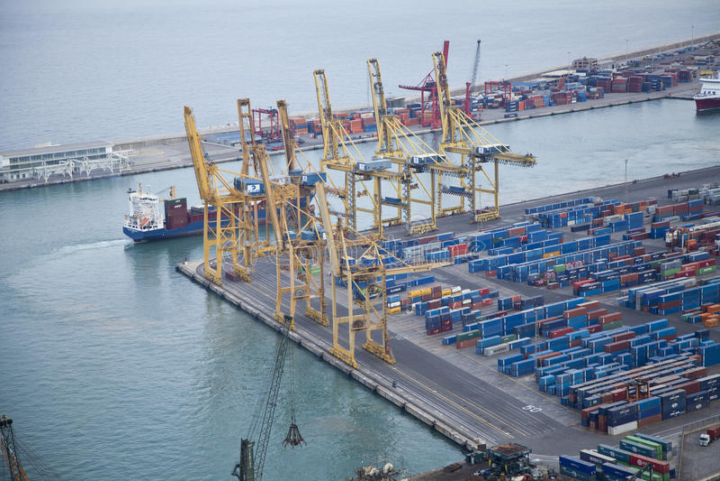 Industrial port area