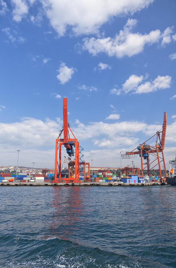 Industrial port of Istanbul, Turkey. royalty free stock image
