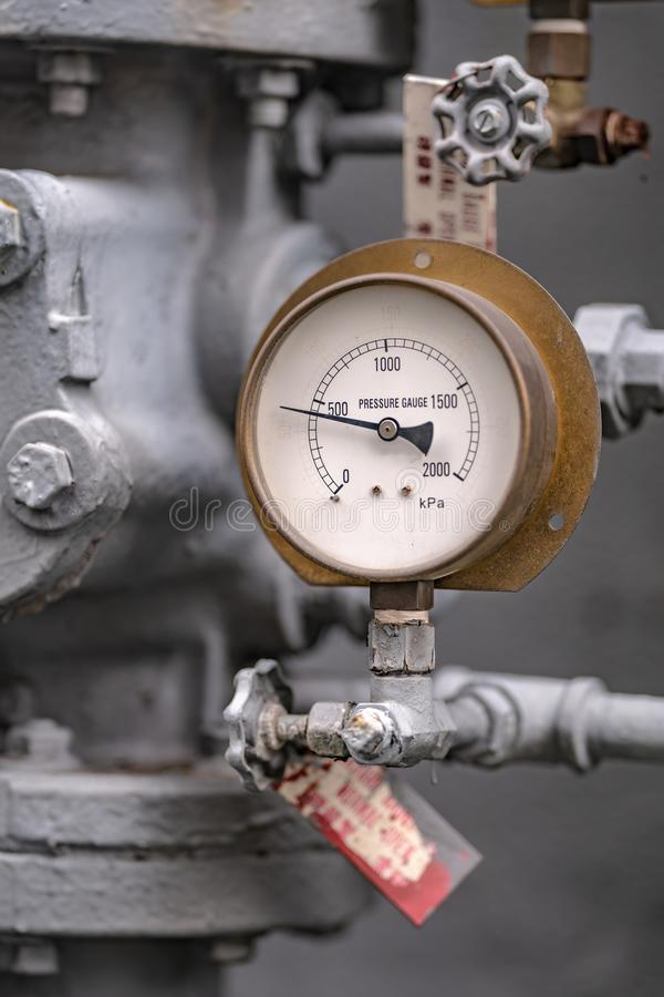 Industrial Pressure Gauge Equipment In Laboratory. Industrial Pressure Gauge Equipment ; Device For Measuring Absolute Pressure Gauge royalty free stock photos