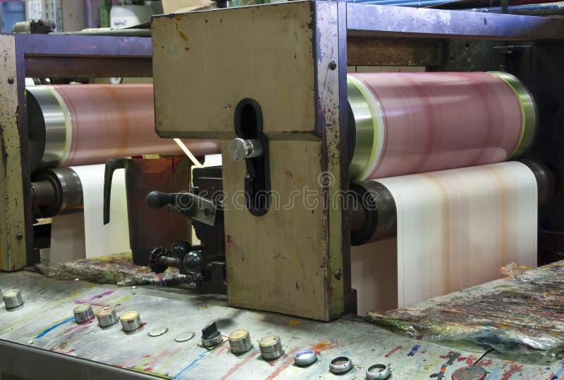 Industrial printing machine stock image
