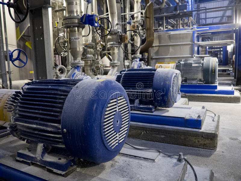 Download Industrial Pumps and Pipes stock image. Image of heavy - 50254533