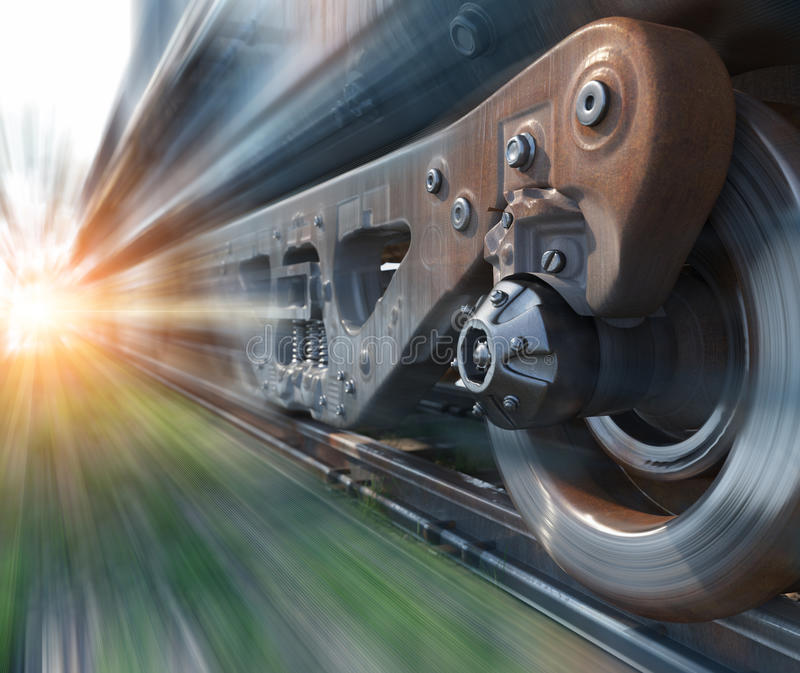 Industrial rail train wheels closeup technology perspective conceptual background royalty free stock photos