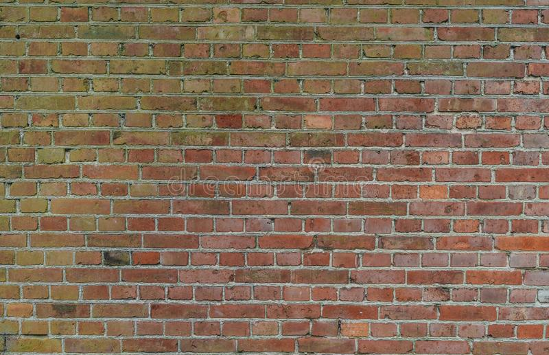 Industrial red brick wall background in Europe stock photography